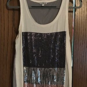 Express tunic tank with sequins
